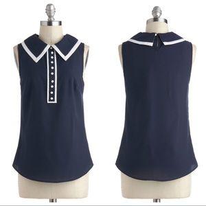ModCloth • Chelsea Collar Polka Dot Button Blouse